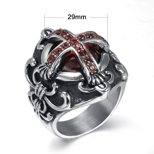 Ring - Vintage Red Cross Ring