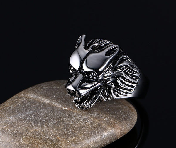 Ring - Wolf Head Ring