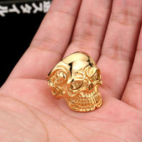 Rings - Triple Skull Man Ring
