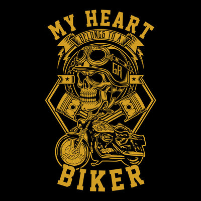 T-Shirts - My Heart Belongs To A Biker