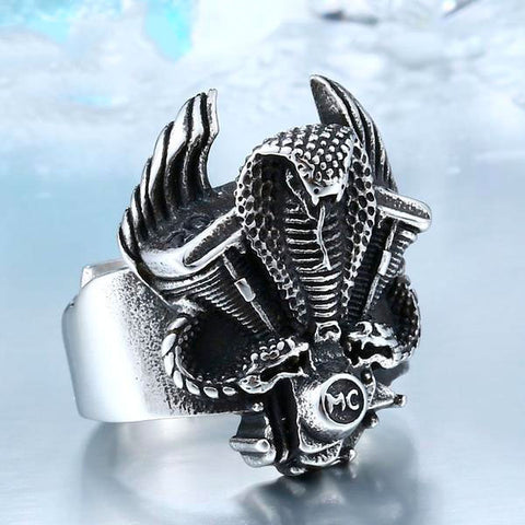 V-Twin Cobra Snake Ring