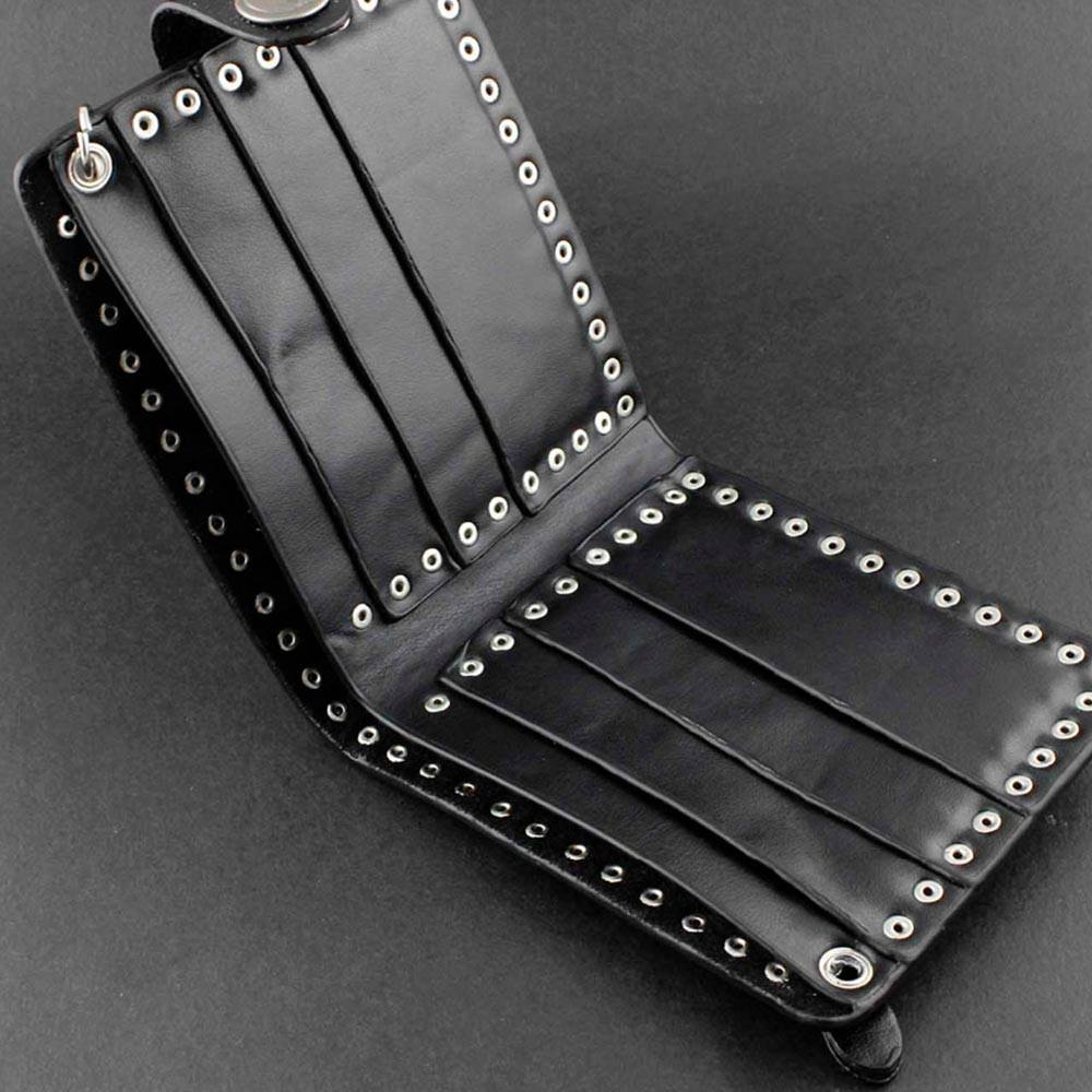 Wallet - Cross And Stud Wallet With Chain