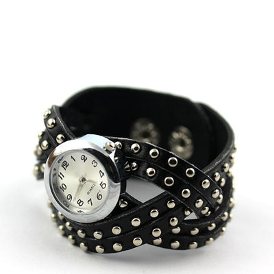Watch - Classic Leather Stud Women Watch