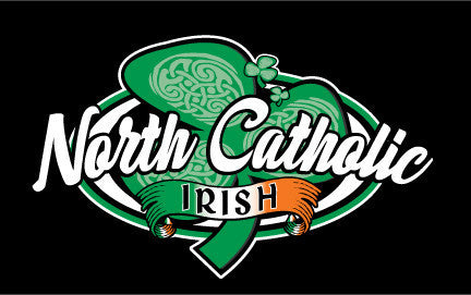 Black North Catholic IRISH Hooded Sweatshirt
