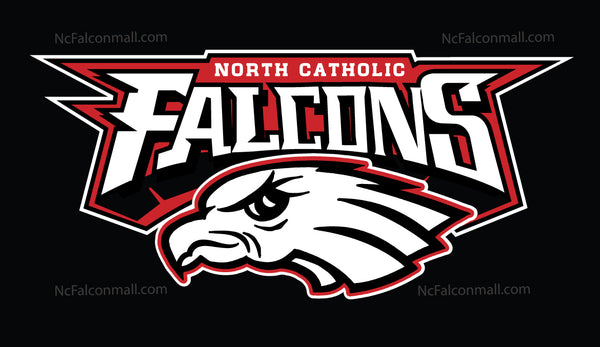 North Catholic Falcons Black hooded sweatshirt