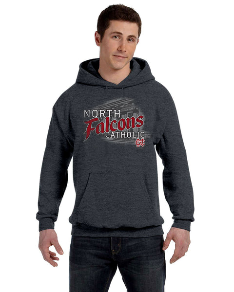 School Front Hooded Sweatshirt
