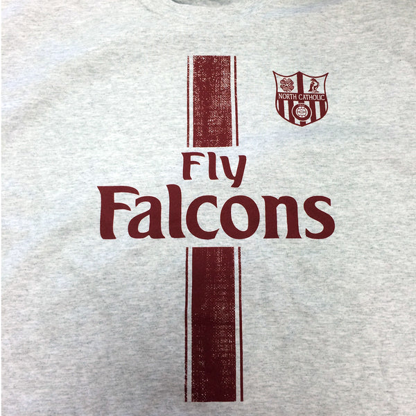 Fly Falcons Ash Gray Gildan 50/50 T-Shirt