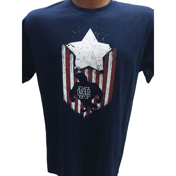 NC Some Gave All Navy Blue Gildan 50/50 T-Shirt