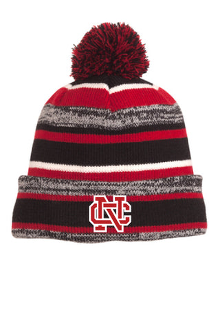 e0846392d2f North Catholic - Falcon Mall New Era NC Sideline Striped Beanie ...
