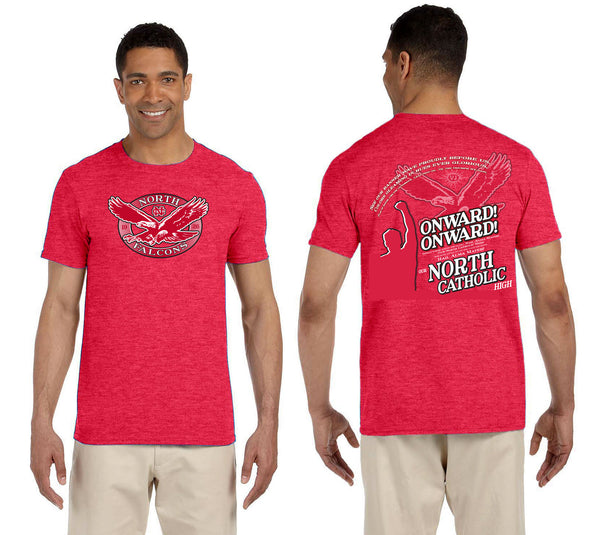ONWARD! ONWARD! red heather tee