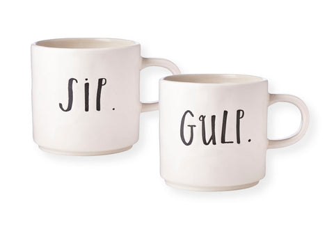 Stem Line Sip & Gulp Mug Set - Rustic Lane Boutique