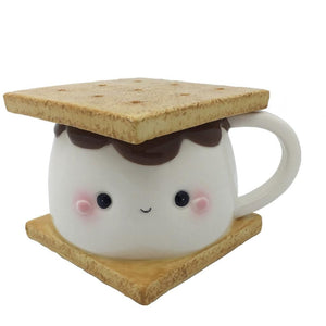Marshmallow S'more Mug w/Lid - Rustic Lane Boutique