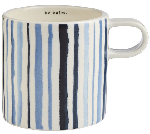 Indigo Be calm. Short Mug - Rustic Lane Boutique