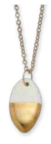 18k Gold-dipped Oval Necklace - Rustic Lane Boutique
