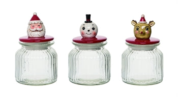 Glass Christmas Candy Jar - Rustic Lane Boutique