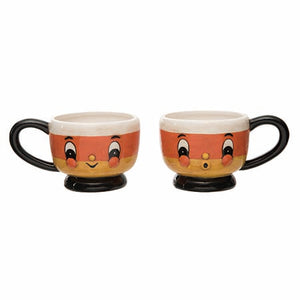 Candy Corn Mug, set of 2