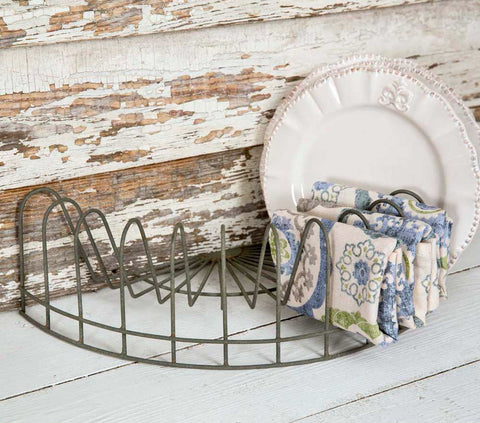 Half Round Plate Rack - Rustic Lane Boutique