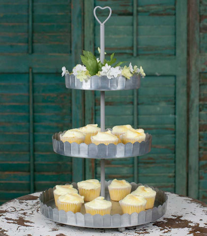 Sweetheart 3 Tier Dessert Stand - Rustic Lane Boutique