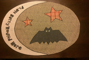 Plain Batty Round Here Placemat set of 2 - Rustic Lane Boutique