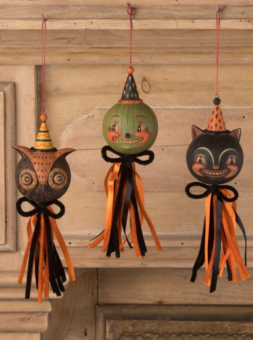 Eavesdrop Tassel Ornament set of 3