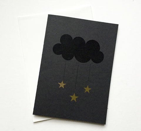 Cloud and stars card