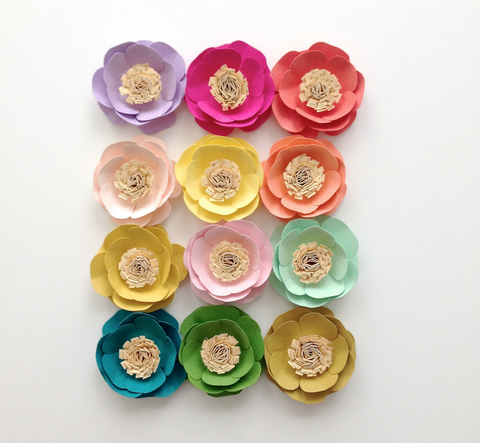 Multi-color Paper Flowers Decoration