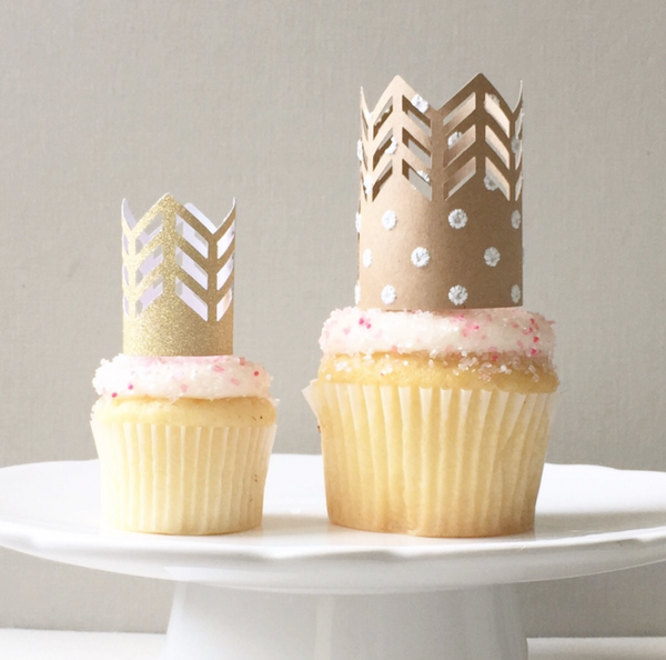 Crown Cupcake Toppers
