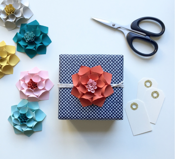 Dahlia Paper Flower Decoration