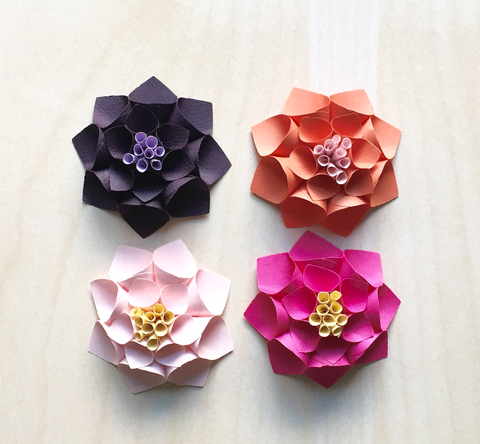 Fall Colors Paper Flowers