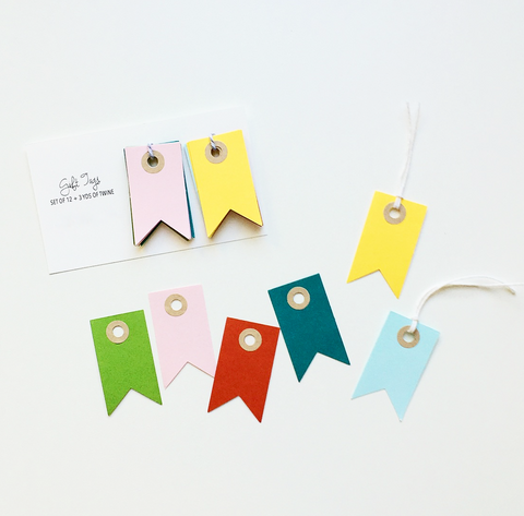 Colorful Pennant Gift Tags