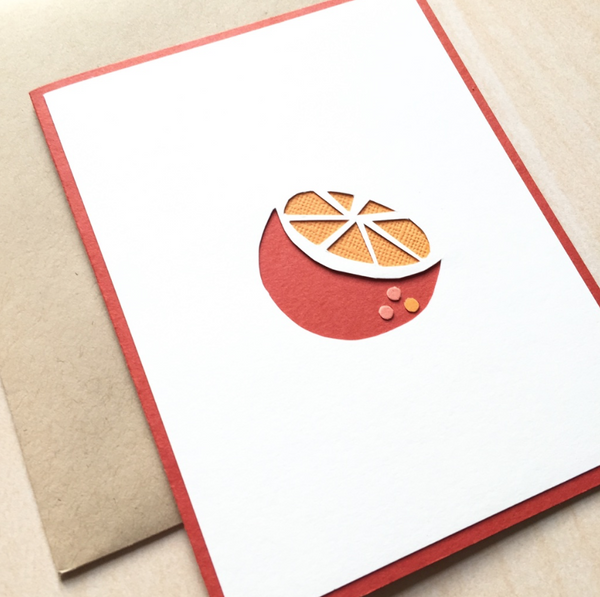 Orange Citrus Card Stationery