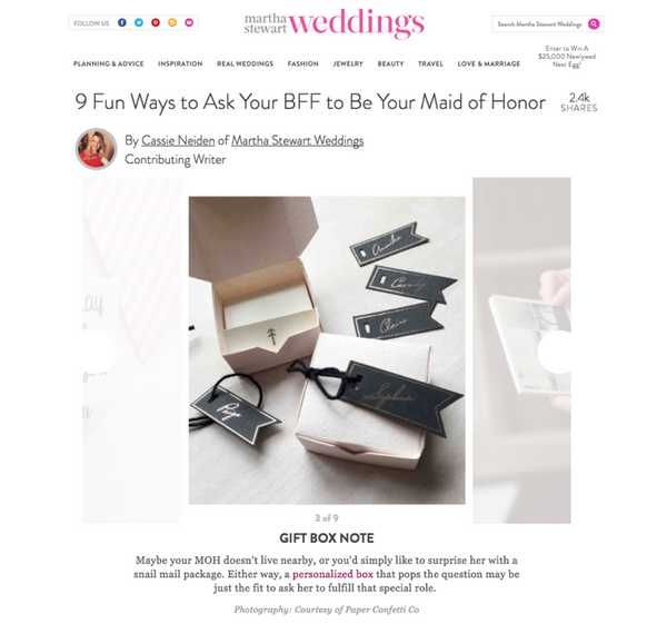 Be My Bridesmaid Boxes