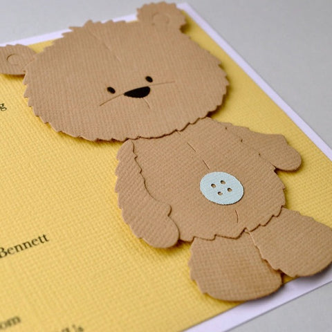 Bear invitation - set of 10 with envelopes