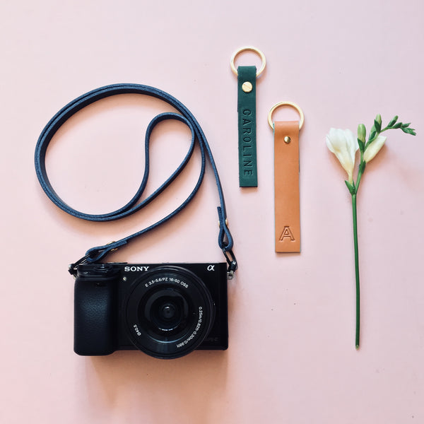 Personalised camera strap (5 colours)