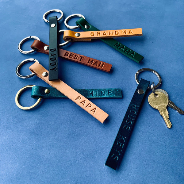 FINCH Personalised leather keyrings