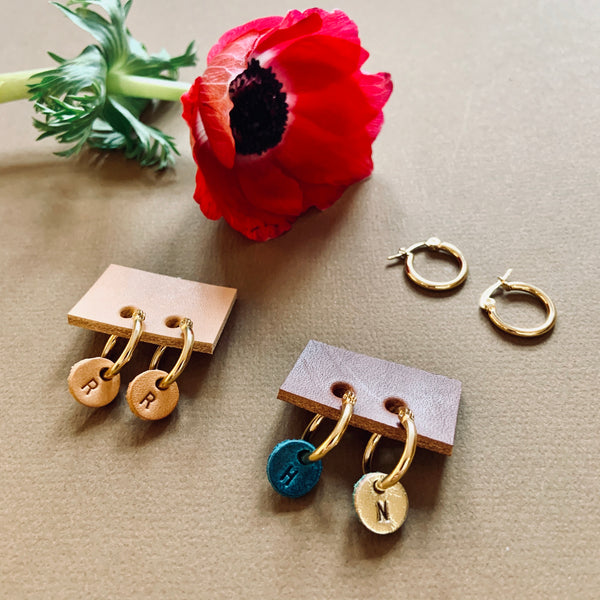 Gold Initial Earrings