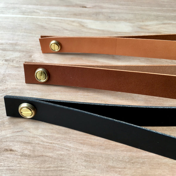 Leather shelf straps