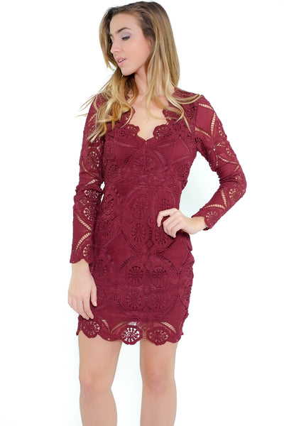 Julie Dress - Wine
