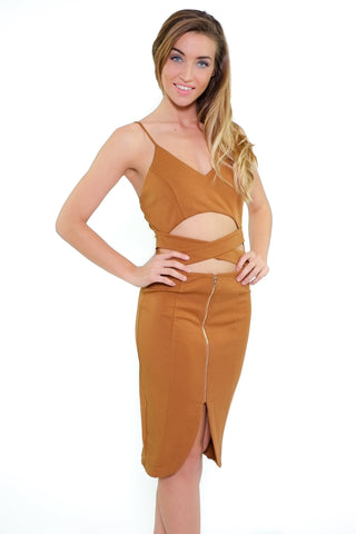 Paulina Dress - Camel