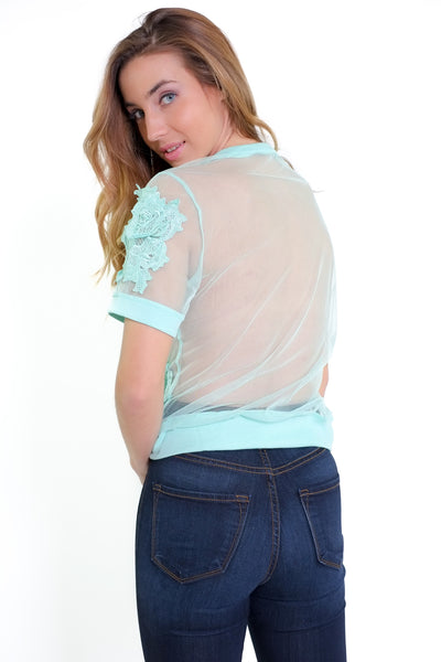 Phoebe Top - Mint