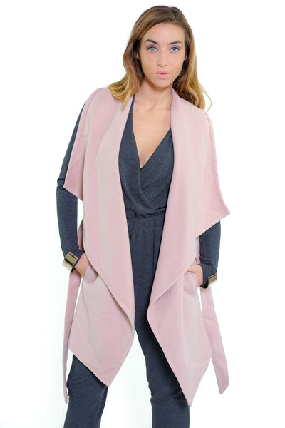 Kathie Sleeveless Coat - Pink