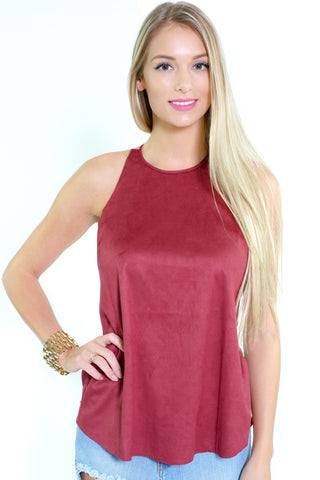 Jane Suede Top
