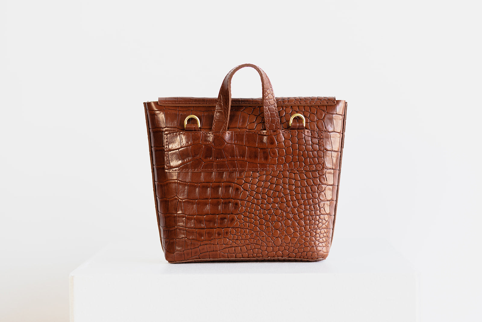 MINI SAINT LUCIA - BROWN CROC EMBOSS