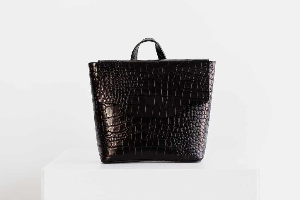 MINI SAINT LUCIA - BLACK CROC EMBOSS