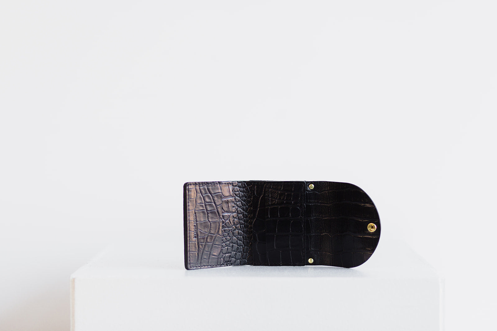 MINI WALLET - BLACK CROC EMBOSS