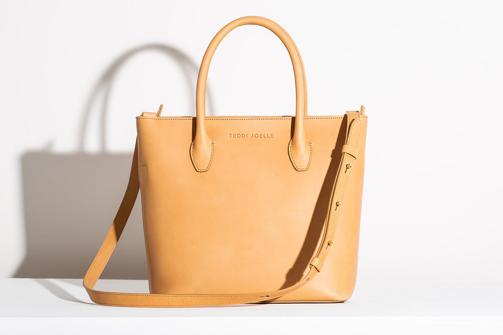 LAST CHANCE: MINI ZIPPER ESSENTIALS TOTE - NATURAL