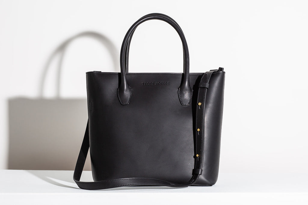 LAST CHANCE: MINI ZIPPER ESSENTIALS TOTE - BLACK