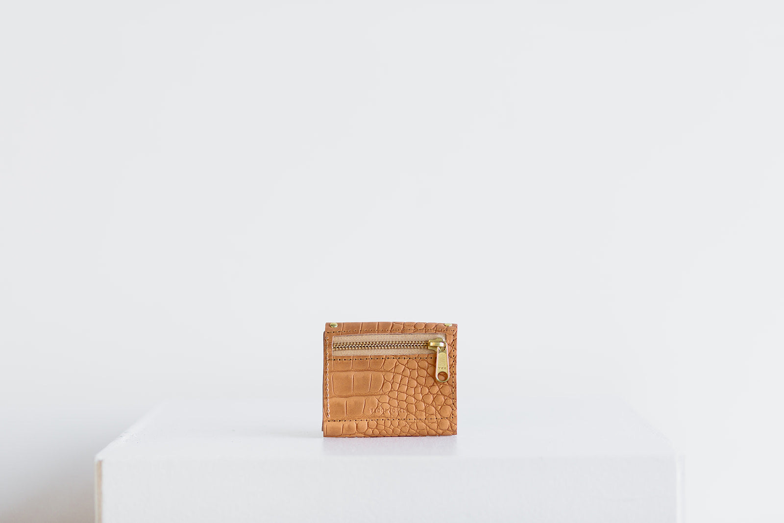 MINI WALLET - UNDYED NATURAL CROC EMBOSS