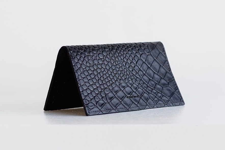 ESSENTIALS WALLET - BLACK CROC EMBOSS