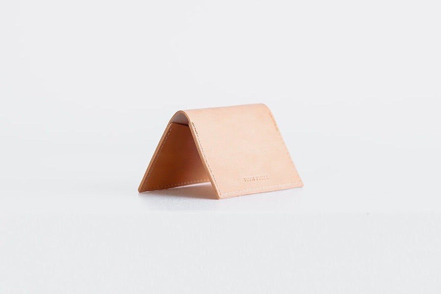 FOLDING POCKET WALLET - UNDYED NATURAL